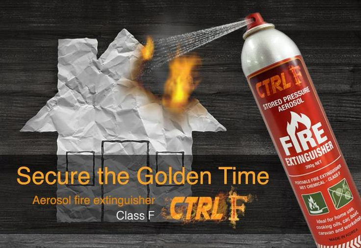 WIN 1 of 20 Twin Pack CTRL F – (Class F) Aerosol Fire Extinguishers