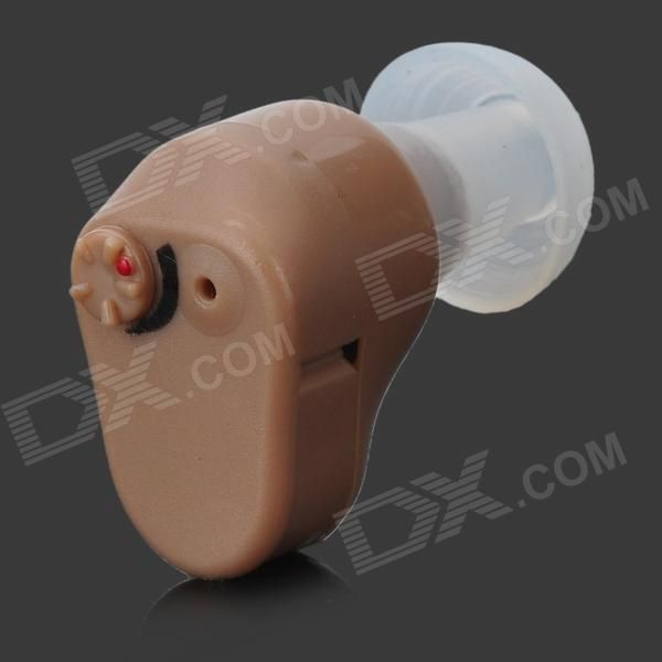 In-Ear Ear Sound Voice Amplifier Hearing Aid - Light Brown (1 x A312)