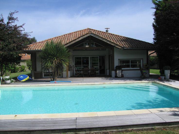 Abritel Location Maison de Vacances Landes idéale pour grande famille ou groupe d'amis Location villa Adour Landes Océanes Villa face à la forêt de pins offrant 5 chambres et une grande piscine chauffée