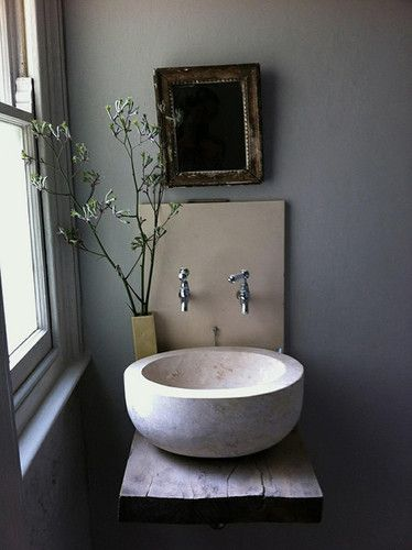 rustic washstand