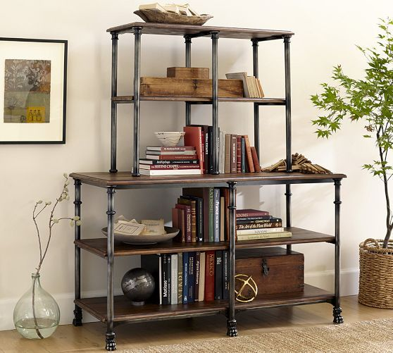 Austin Bookcase Pottery Barn Bookshelves Inspiration Pinterest The Office Industrial