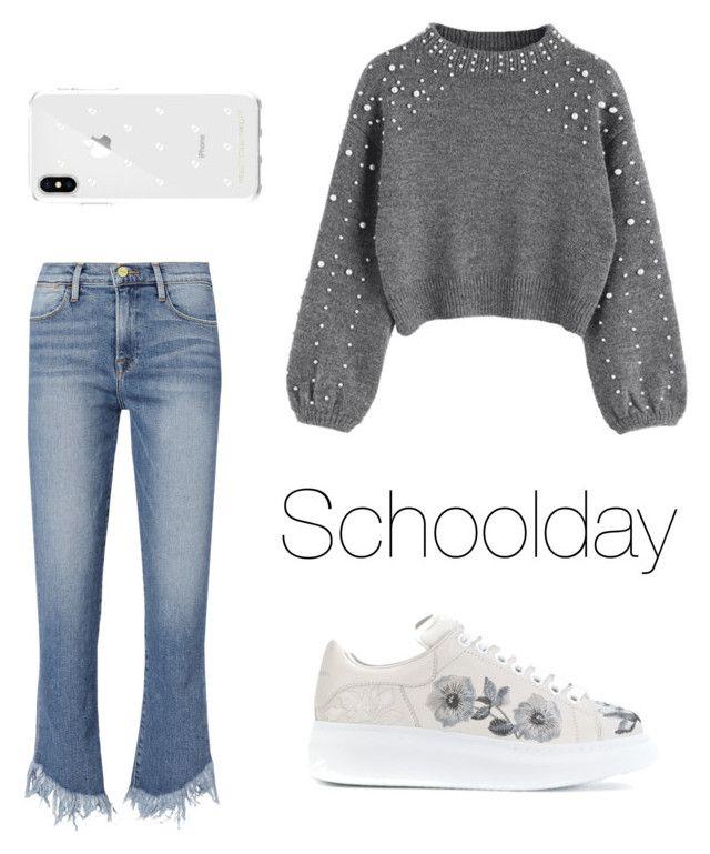 """Just a schoolday."" by djamilladjamilla on Polyvore featuring mode, Frame, Alexander McQueen en Rebecca Minkoff"