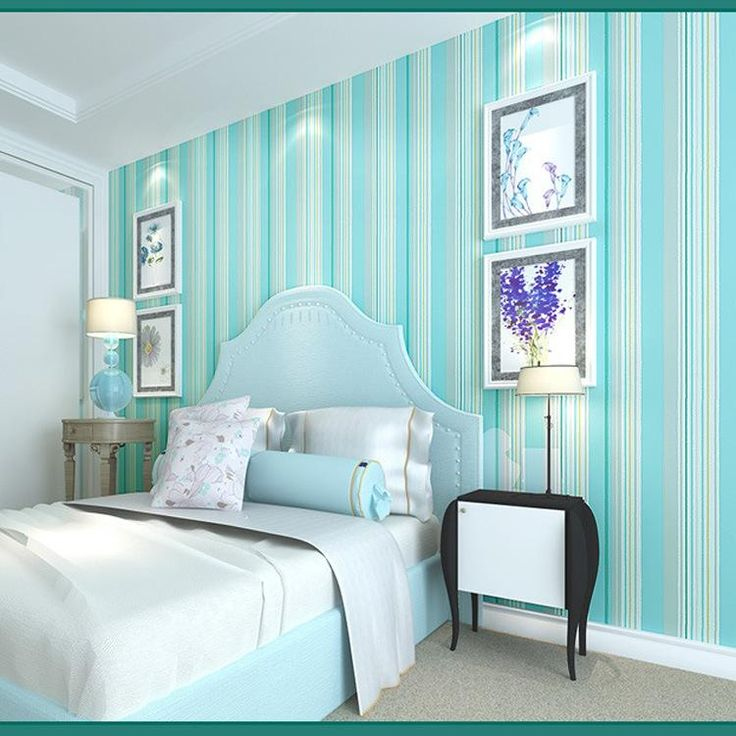 Nonwoven wallpaper modern minimalist vertical stripes