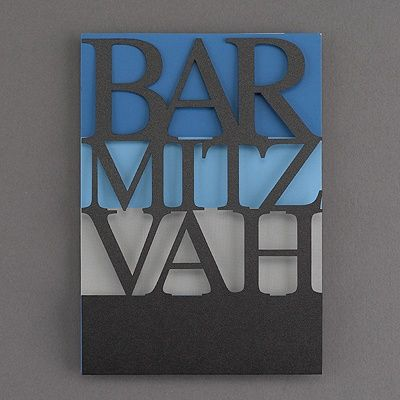 Laser Cut - Color Bands - Bar Mitzvah - Invitation available at www.penandparchment.carlsoncraft.com #barmitzvah #uniqueinvite #penandparchment