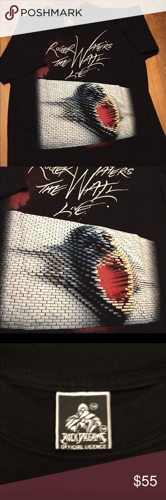 Roger Waters Pink Floyd The Wall concert T shirt Awesome retro shirt in excellent condition Shirts Tees - Short Sleeve