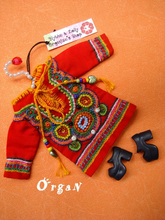 OOAK Little India ART Tunic  CooL ChiC  Red DRESSwith by organ111, $39.00