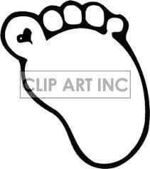 Shrinky Dinks template: child's footprint