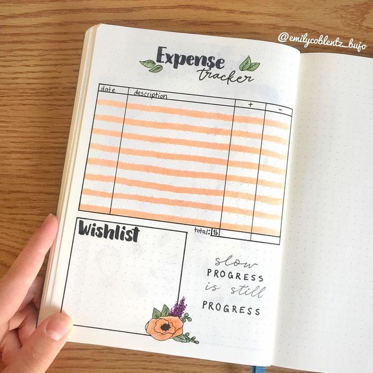 "Emily.Coblentz.Bujo on Instagram: ""The expense tracker of October. 2018. With … – Bullet journal"