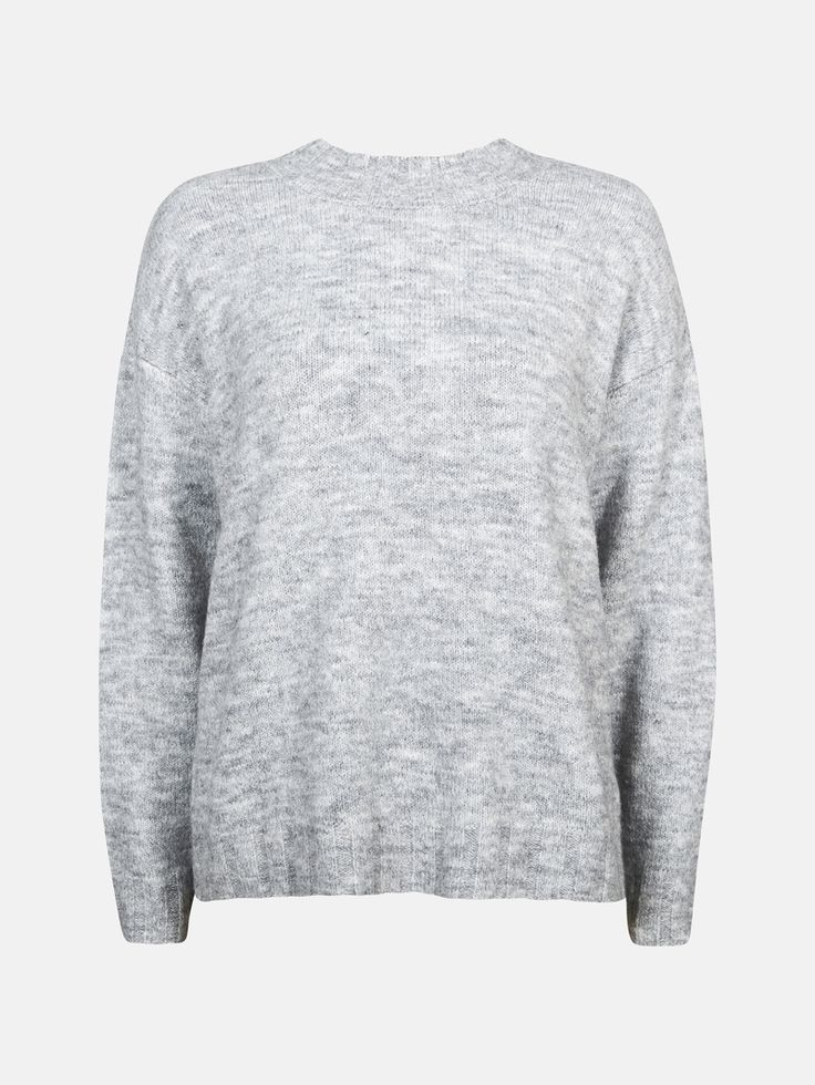CUBUS - Julie strikket genser i  grå melert 199,