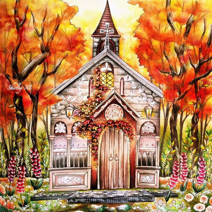 romantic country coloring bookthe second tale - Coloring Books For Adults 2