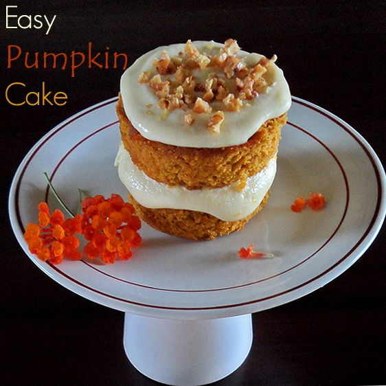 Easy Pumpkin Cake - simple tricks how you can make any white or spice cake mix into a pumpkin cake