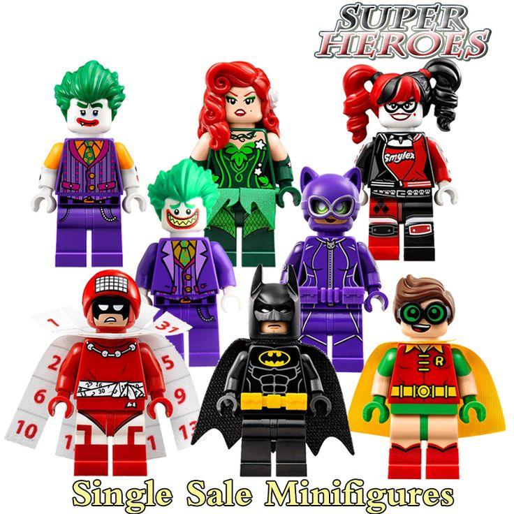 Строительные Блоки Календарь людей Харли Квинн Бэтмен Джокер Робин Ядовитый Плющ Женщина-Кошка Super Heroes Minifigures Детей Игрушки PG8032 #women, #men, #hats, #watches, #belts