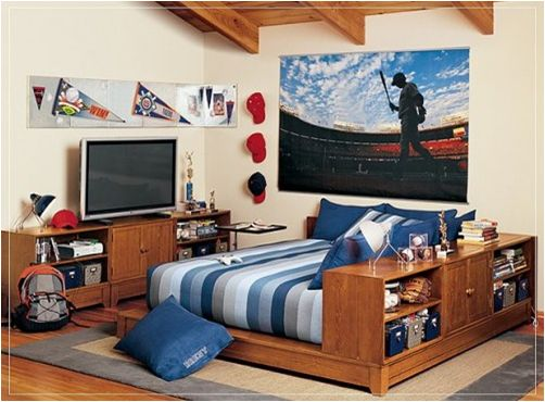 23 best teens sports themed rooms images on pinterest | bedroom