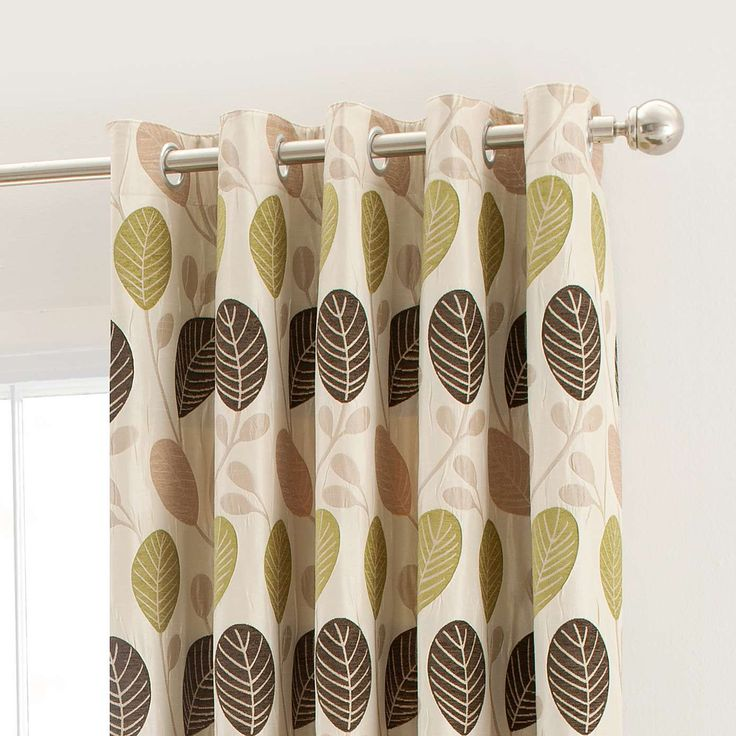 Green Turin Lined Eyelet Curtains | Dunelm