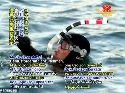 Frenchman philippe Croizon who is a  Quadriplegic  successfully swims English Channel.