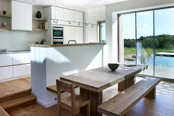 Minimalist Kitchen Idea from Best Retreat House Design by New Forest House in UK 600x401 Best Retreat House Design by New Forest House, in UK