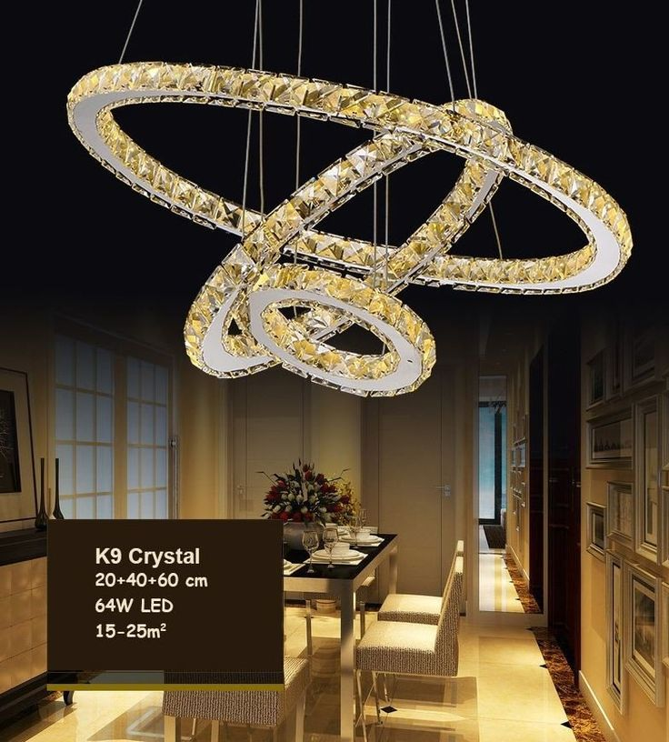Z Gallerie Light Fixtures: Modern Chandelier LED Crystal Ring Chandelier Ring Crystal