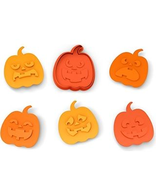 Fred and Friends SNACK-O-LANTERN Cookie Cutter/Stampers (Set of 6)