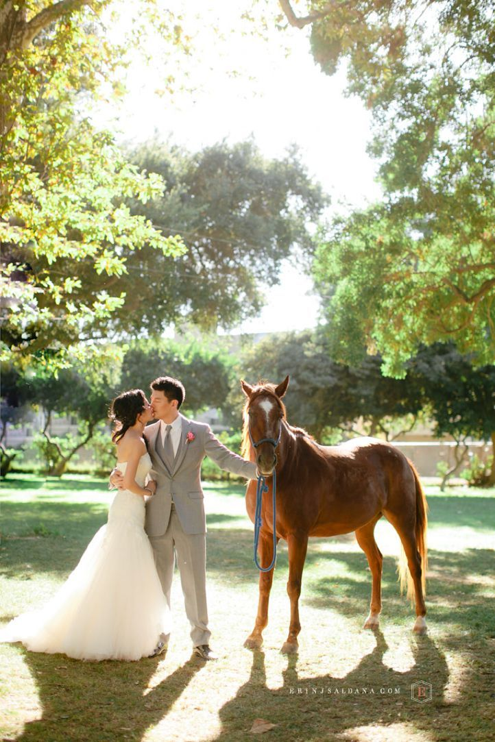 Calamigos Equestrian Wedding With Horses Erin J Saldana Photography Erinjsaldana