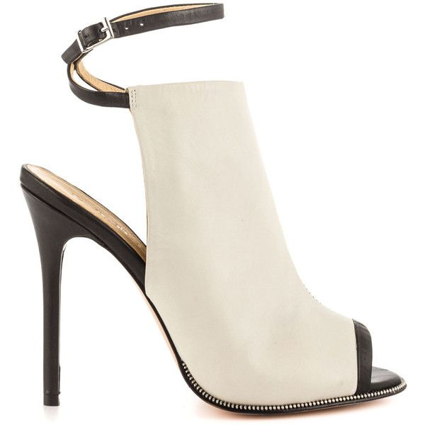 Reward yourself with the stunning Ward b L.A.M.B. Beautiful silver leather envelopes the silhouette with edgy zipper trim and single sole peep toe. Adjusting b…
