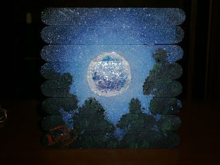 Lia B. Creations: 'Moonlight over the trees'