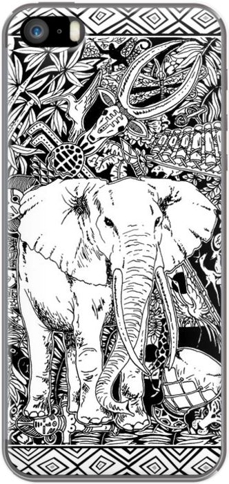 #White #Elephant #Indian #Ink #iPhone #Case - SOLD! by #BluedarkArt on #TheKase! Thanks - #Bestseller of the Month! :)   http://www.thekase.com/sg/default/white-elephant-indian-ink-tribal-art-19692804.html