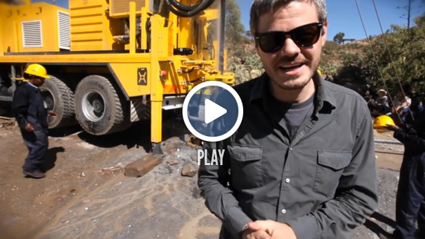 First well drilled with charity: water's new drilling rig!