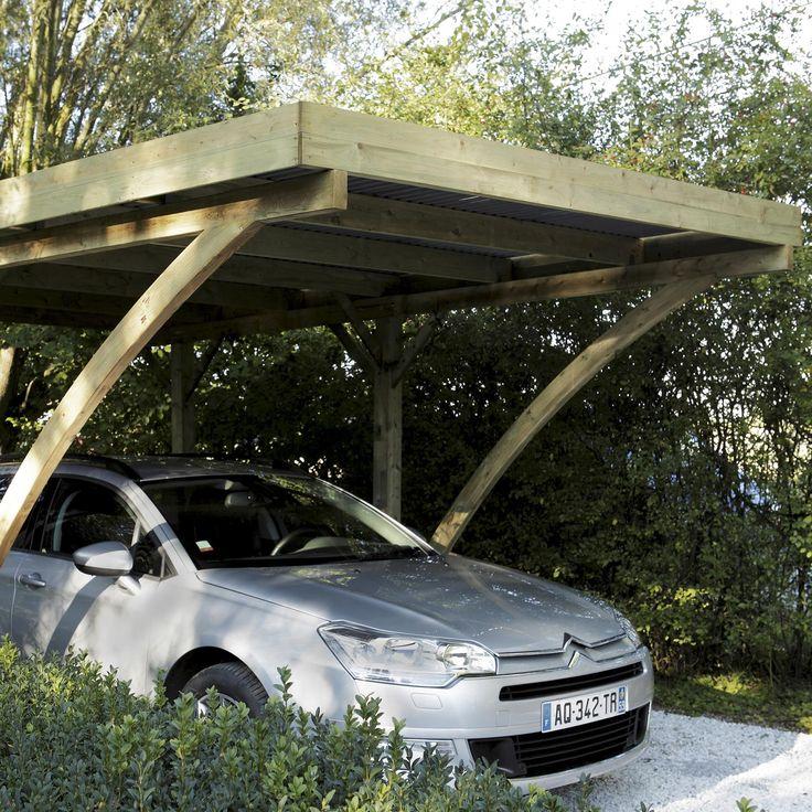 carport en bois jardin terrasse et magasin leroymerlintrignac trignac loireatlantique. Black Bedroom Furniture Sets. Home Design Ideas