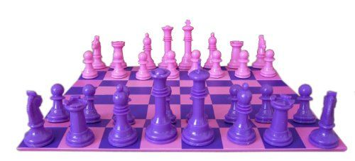 Erika 9 Laminated Roll Up Chess Set in Pink and Purple $14.95