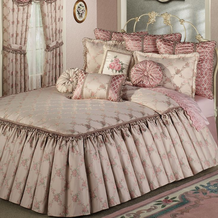 Special comforter sets thomasville comforter sets sheet for Bedroom curtains and bedding