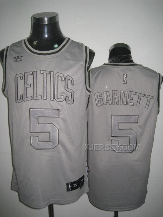 huge discount 7e2f2 83c3b boston celtics 5 kevin garnett gray with black pinstripe jersey
