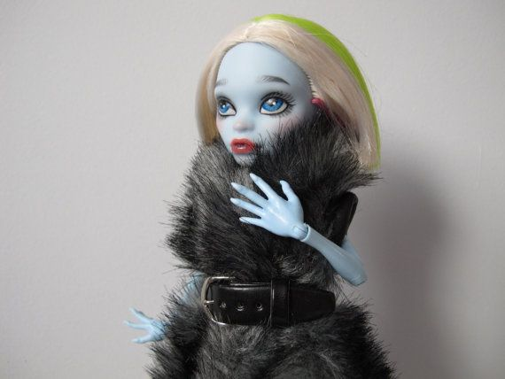 Monster High OOAK repainted doll abbey by EveryDollsDream on Etsy