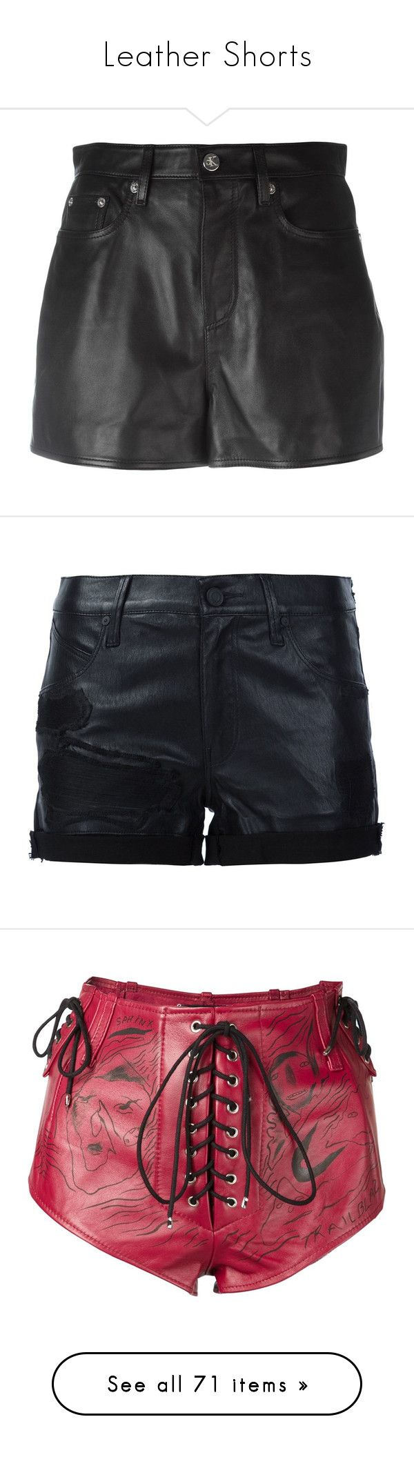 """""""Leather Shorts"""" by thecomedian ❤ liked on Polyvore featuring skirts, mini skirts, black, leather mini skirt, leather skirt, genuine leather skirt, calvin klein jeans, real leather skirt, shorts and leather shorts"""