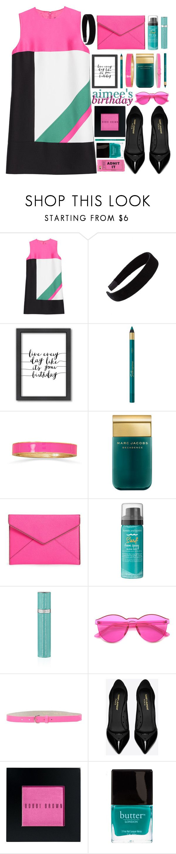 """- Happy Birthday Aimee! -"" by akswiftiegirl ❤ liked on Polyvore featuring Dsquared2, L. Erickson, Americanflat, BillyTheTree, Marc Jacobs, Rebecca Minkoff, Bumble and bumble, Pepe Jeans London, Yves Saint Laurent and Bobbi Brown Cosmetics"