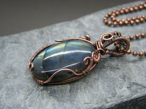 Wire Wrapped Cabochon Tutorial Wire Wrapped by DesignedByAnnemarie