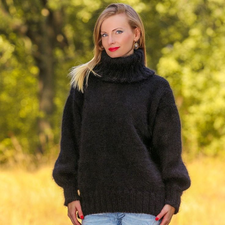 1000+ images about Fluffy handmade mohair sweaters by ...