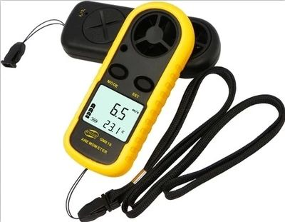 GM816 30m/s (65MPH) LCD Digital Hand-held Wind Speed Gauge Meter Measure Anemometer Thermometer Speed Measuring Instrument