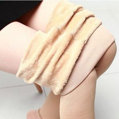 New Autumn and Winter Fashion Women's Plus Cashmere Tights High Quality Knitted Velvet Tights Elastic Slim Warm Thick Tights