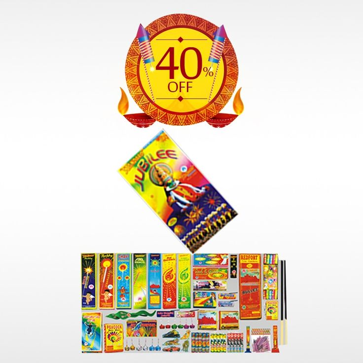 Buy STANDARD JUBILEE (38 ITEMS) #GiftBox online this #Diwali and make the festival celebration more unique. Get 40% off on #DiwaliCrackers. Hurry Up! Limited Offer!