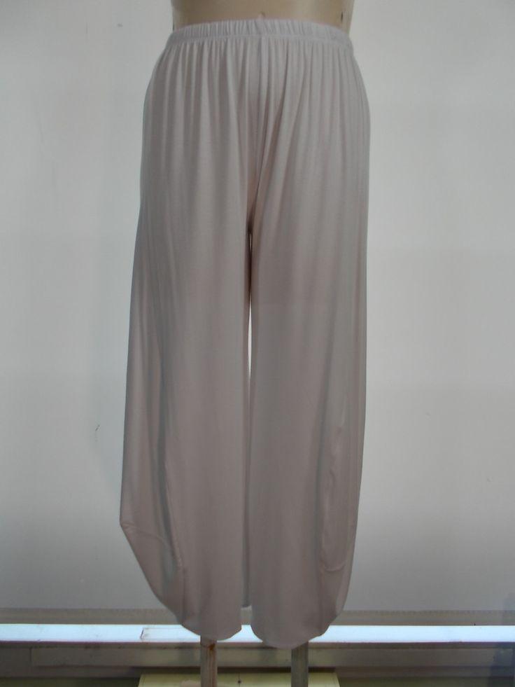 Comfy USA - Modal White Dakota Side Detail Ankle Pant