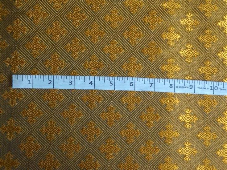 "SILK BROCADE FABRIC BLUEISH GREEN COLOR 44"" VESTMENT"