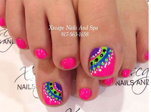 18+ Summer Toe Nail Artwork Designs, Concepts, Trends & Stickers 2015 | Nail Design