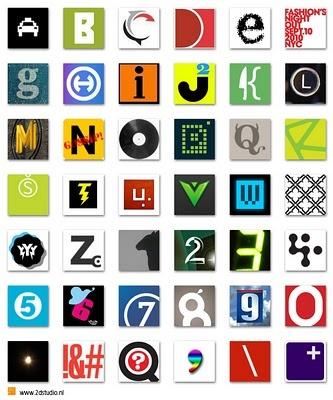 twitter logo alphabet