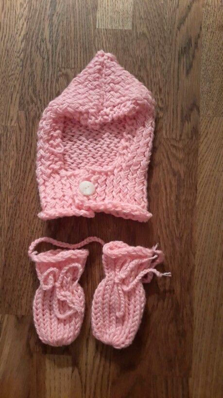 Babymütze mit Handschuhen Strickring