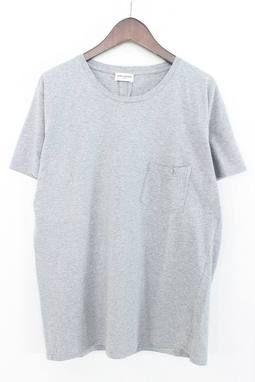 サンローランパリ/SAINTLAURENTPARISバックダーツポケットTシャツ(L/グレー)【01】【メンズ】【115071】【中古】bb51#rinkan*A