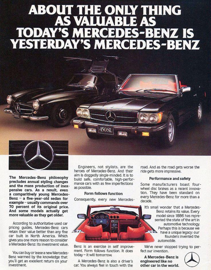 Classic 80s Mercedes advert   Mercedes classic cars   Pinterest ...