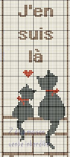 chat - cat - marque page - point de croix - cross stitch - Blog : http://broderiemimie44.canalblog.com/