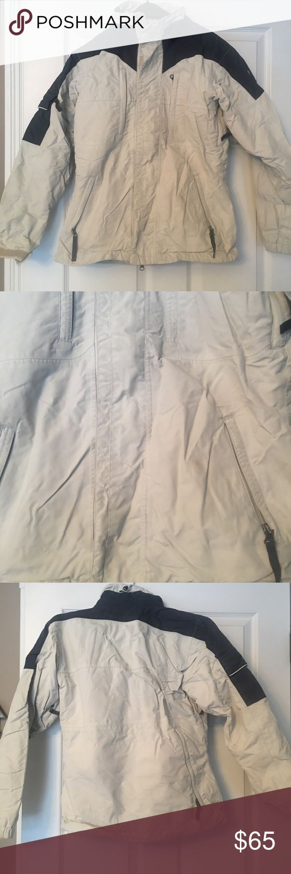Burton Snowboarding/Skiing Jacket XS Burton jacket- extremely warm!  Small spot on the front that can be dry cleaned/washed (as seen in picture) otherwise great condition!  Lots of pockets throughout jacket including some vent pockets for snow sports. Burton Jackets & Coats