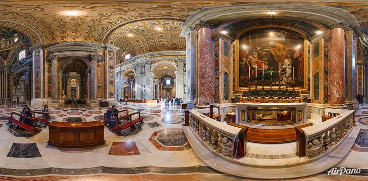 Interiorul de Bazilica Sf. Petru. Vatican. Catolicism