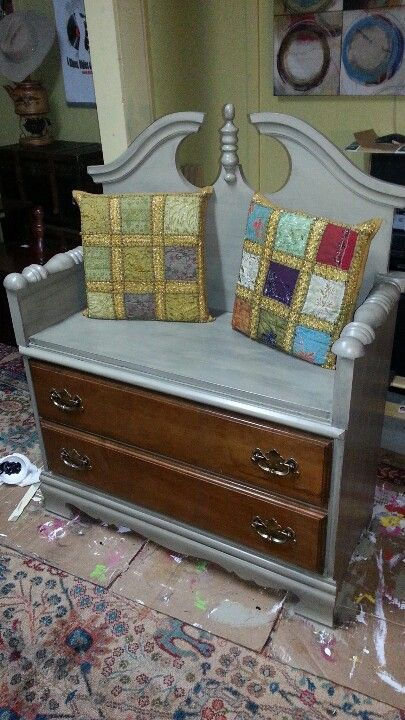 Latest Dresser Headboard Conversion To Bench Sold Up Cycling